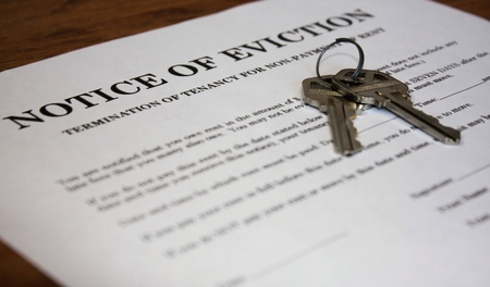 Photo of eviction notice